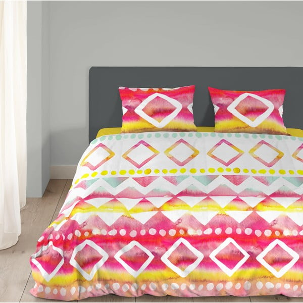 Ružové bavlnené obliečky na dvojlôžko Müller Textiel Lily, 200 x 200 cm