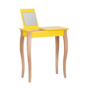 1552a0fe9 Žltý toaletný stolík so zrkadlom Ragaba Dressing Table, dĺžka 65 cm
