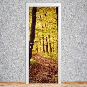 Samolepka na dvere LineArtistica Autunno, 80×215cm