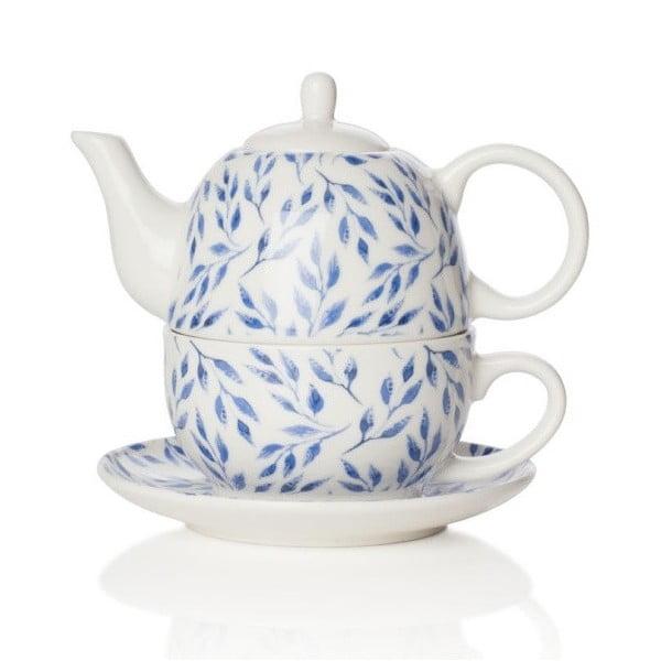 Čajová kanvica s tanierikom z kostného porcelánu Sabichi Beatrice