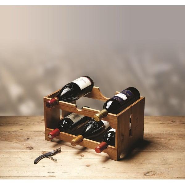 Stojan na víno z akáciového dreva Kitchen Craft Natural Elements