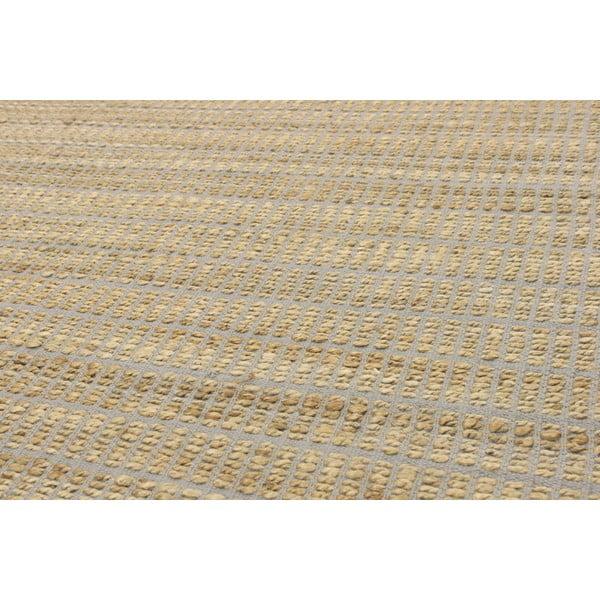 Jutový koberec Ranger Silver, 100x150 cm