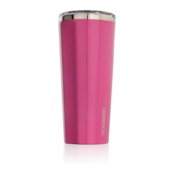 Ružový termohrnček Corkcicle, 700ml