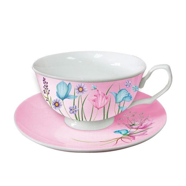 Sada 2 šálok na cappucino Pink Cups