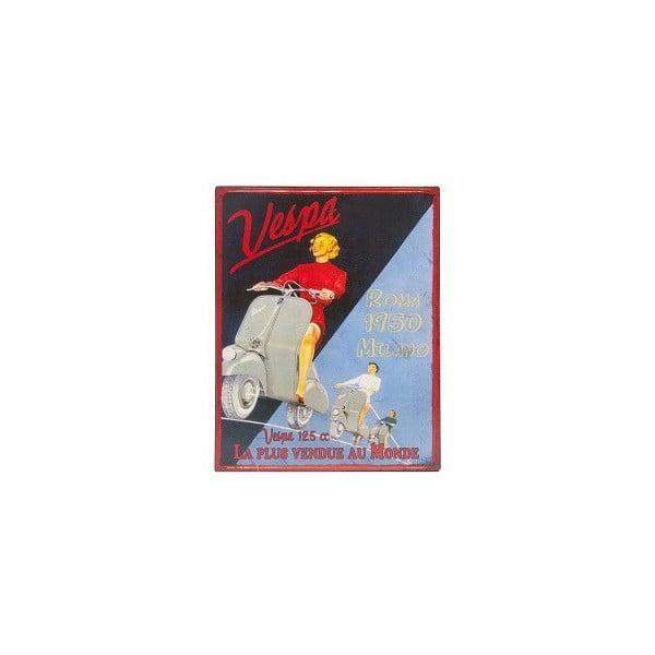 Kovová ceduľa Vespa, 28x22 cm