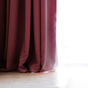 Tmavovínový záves DecoKing Pierre, 140 × 270 cm