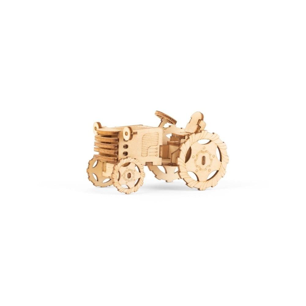 3D drevené puzzle s motívom traktoru Kikkerland Tractor