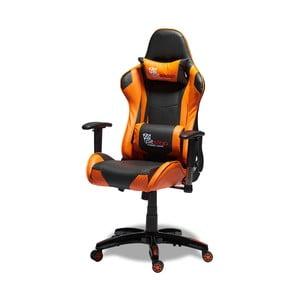 Čierno-oranžová kancelárska stolička Furnhouse Gaming