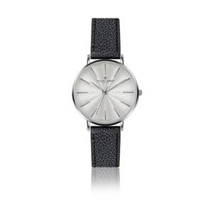 Dámske hodinky s čiernym remienkom z pravej kože Frederic Graff Silver Monte Rosa Lychee Black Leather