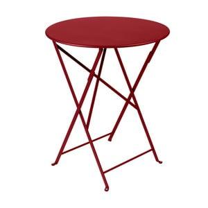 Sýtočervený skladací kovový stôl Fermob Bistro