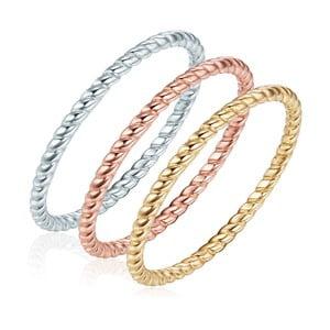 Trojitý prsteň Ines Cavalera Silvia, veľ. 52