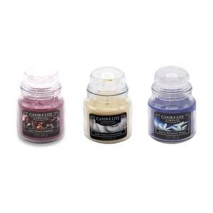 Sada 3 vonných sviečok v skle Candle-Lite Beautiful Day, doba horenia až 27 hodín