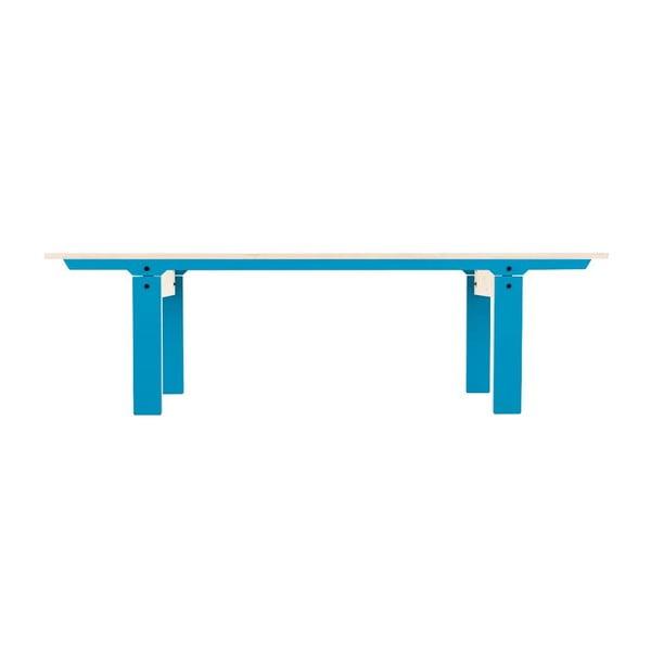 Modrá lavica na sedenie rform Slim 04, dĺžka 165 cm