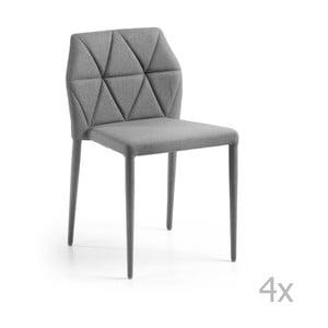 Sada 4 sivých stoličiek La Forma Gravite
