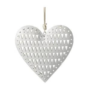 Závesná dekorácia Parlane Heart Triangle, 12cm