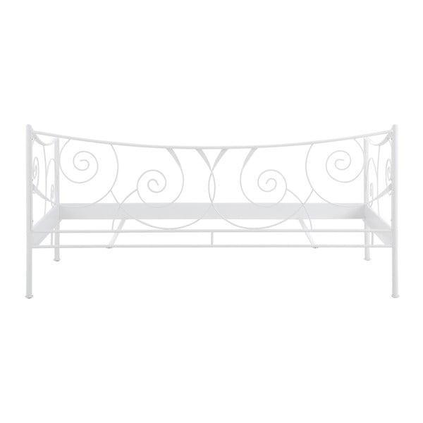 Biela kovová posteľ Støraa Isabelle, 90 x 200 cm