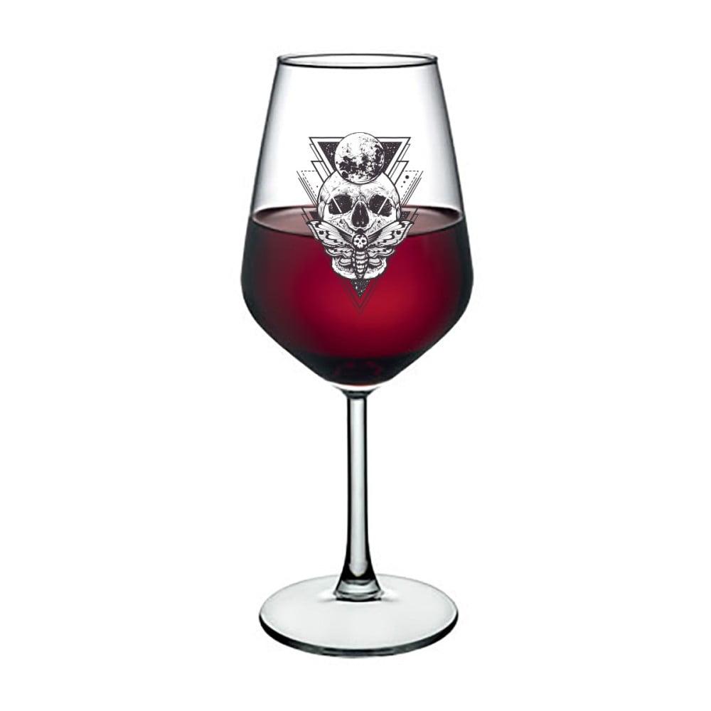 Pohár na víno Vivas Skull, 345 ml