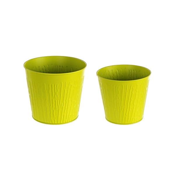 Sada 2 kvetináčov Corteccia, zelená