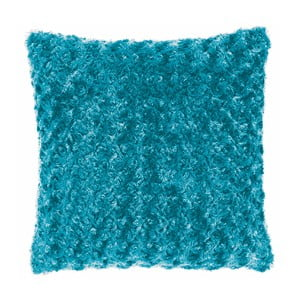 Tyrkysovomodrý poťah na vankúš Tiseco Home Studio Curl, 45 × 45 cm