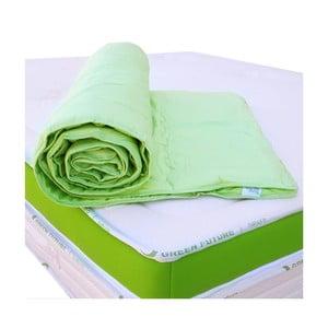 Zelená ochranná podložka na matrac s bambusovými vláknami Nature Green Future, 90 x 200 cm