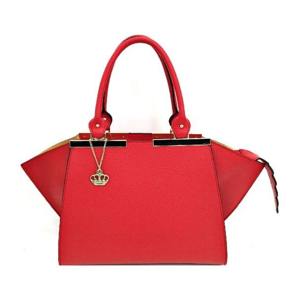 Kožená kabelka Desi Red