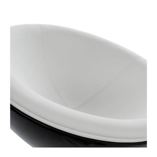 Bielo-černé otočné kreslo Kokoon Sphere