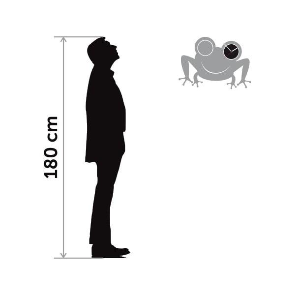 Hodiny so samolepkou Frog