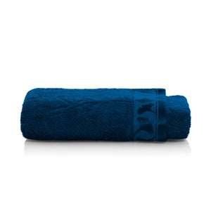 Tmavomodrý uterák z bambusových vlákien Maison Carezza Italia, 50×100 cm