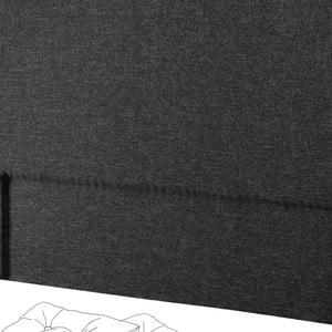 Čierne čelo postele Novative Valse, 180×118cm