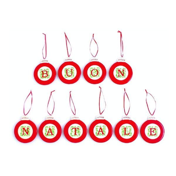 Set vianočných ozdôb Buon Natale
