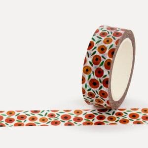 Washi páska U Studio Design Apricots, dĺžka 4 m