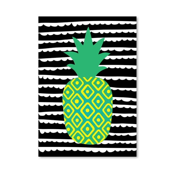 Plagát Striped Pineapple