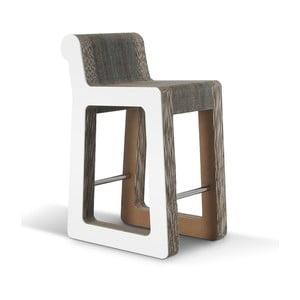 Barová kartónová stolička Knob Stool White