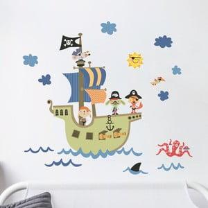 Nástenné detské samolepky Ambiance Pirate Ship