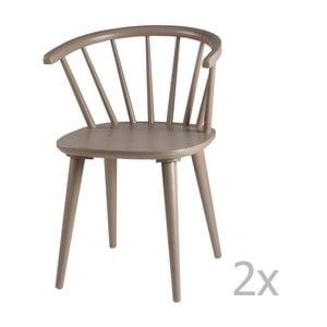 Sada 2 svetlosivých jedálenských stoličiek sømcasa Anya