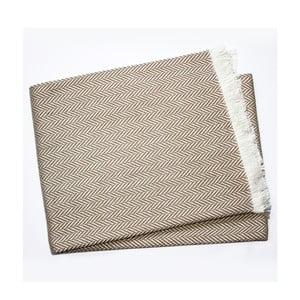 Sivohnedý pléd s podielom bavlny Euromant Sky, 140×180 cm