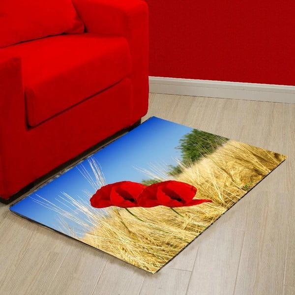 Vinylový koberec Poppies, 52x75 cm