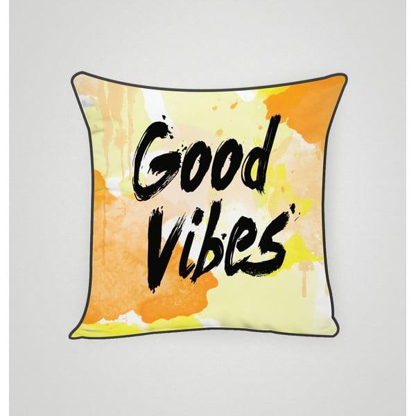 Obliečka na vankúš Good Vibes, 45x45 cm