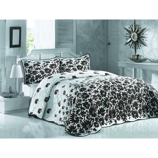Sada prešívanej prikrývky na posteľ a dvoch vankúšov Double Ses 201, 250x260 cm