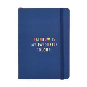 Tmavomodrý zápisník formátu A6 Busy B Life, 128 strán