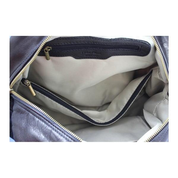 Čierna kožená kabelka Jenny