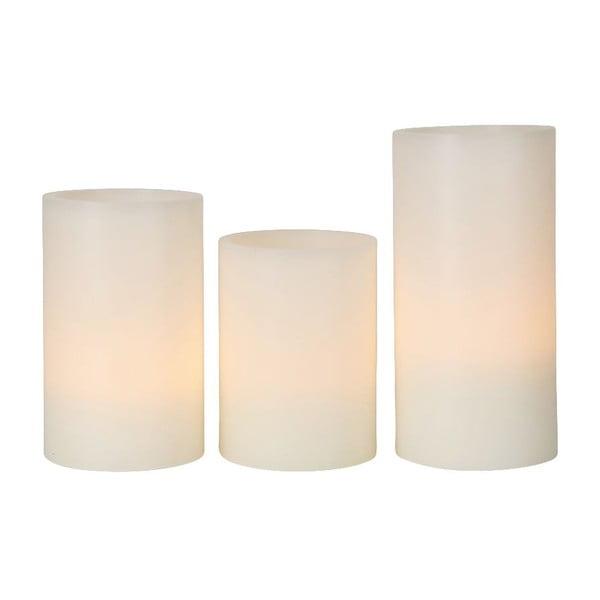 Sada 3 voskových LED sviečok Best Season Wax