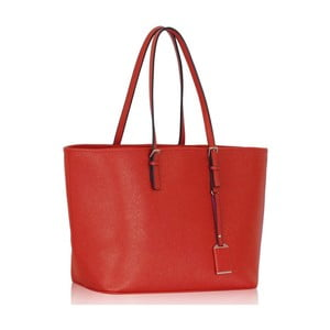 Červená kabelka L&S Bags Tote