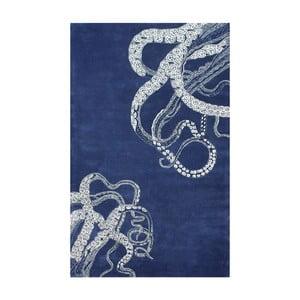 Ručne tuftovaný koberec nuLOOM Deep Navy, 122 x 182 cm