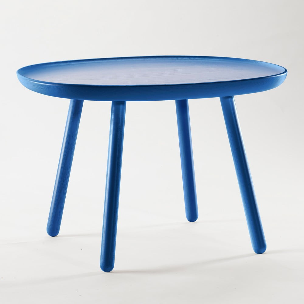 Modrý odkladací stolík z masívu EMKO Naïve Large