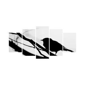Viacdielny obraz Black&White no. 43, 100x50 cm