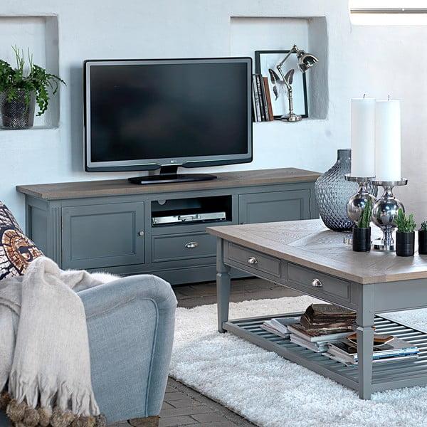 Sivý televízny stolík Canett Royal TV, 1 zásuvka