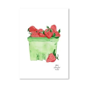 Autorský plagát Strawberries, 30x42 m