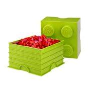 Limetkovozelený úložný box štvorec LEGO®