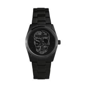 Pánske čierne hodinky s motívom lebky Zadig & Voltaire